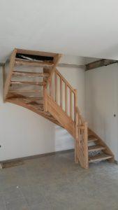 Escalier double quart tournant