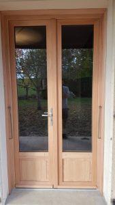 Porte fenêtre bois